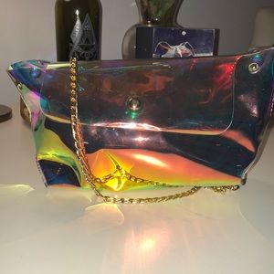 Holographic women's purse